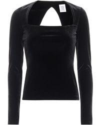Vetements Stretch-velvet Top - Black