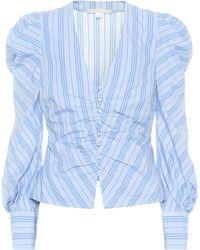 Jonathan Simkhai Striped Cotton Top - Blue