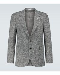 Alexander McQueen Blazer de tweed - Gris