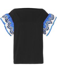 Emilio Pucci - Cotton And Silk T-shirt - Lyst