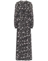 Étoile Isabel Marant Estine Floral-print Crepe Maxi Dress - Black