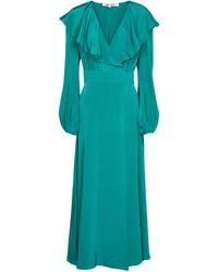 Diane von Furstenberg Robe longue Bella en soie - Bleu