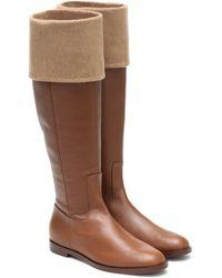 Max Mara Brigg Leather Knee-high Boots - Brown