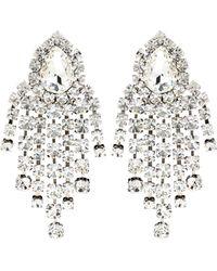 Alessandra Rich - Crystal Pendant Earrings - Lyst