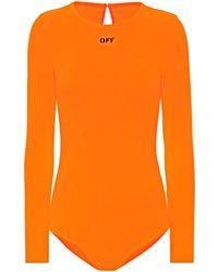 Off-White c/o Virgil Abloh Body à logo - Orange