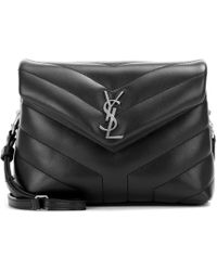 Saint Laurent Toy Loulou Leather Shoulder Bag - Black