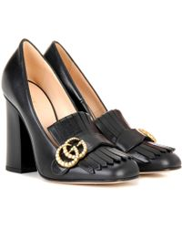 Gucci - Leather Loafer Pumps - Lyst
