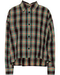 Isabel Marant Camisa de algodón y lino Macao - Verde