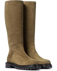 Aquazzura Sky Suede Knee-high Boots - Brown
