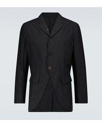 Undercover Blazer aus einem Baumwollgemisch - Schwarz