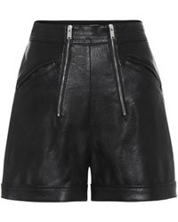 Stella McCartney Faux-leather High-rise Shorts - Black