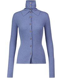 Dodo Bar Or Ribbed-knit Cardigan - Blue