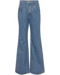 SLVRLAKE Denim X ELLERY High-Rise Flared Jeans Highway - Blau