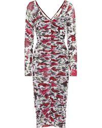 Diane von Furstenberg Vestido con estampado floreado - Multicolor