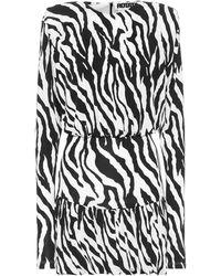 ROTATE BIRGER CHRISTENSEN Alina Animal-print Stretch-jersey Mini Dress - Black