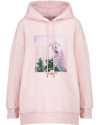 Stella McCartney Printed Cotton-jersey Hoodie - Pink