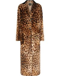 Etro Leopard-print Velvet Coat - Brown