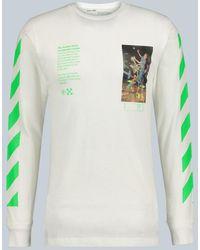 Off-White c/o Virgil Abloh Pascal Painting Long-sleeved T-shirt - White