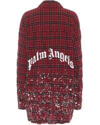 Palm Angels Kariertes Hemd aus Baumwolle - Rot