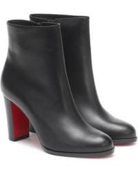 Christian Louboutin Ankle Boots Adox 85 aus Leder - Schwarz