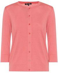 Loro Piana Ventotene Silk And Cotton Cardigan - Pink
