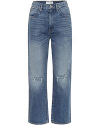 SLVRLAKE Denim High-Rise Cropped Jeans London - Blau