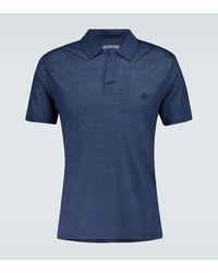 Vilebrequin Pyramid Linen Polo Shirt - Blue