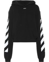 Off-White c/o Virgil Abloh - Cropped Hoodie - Lyst