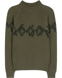 Nina Ricci - Sequinned Wool Sweater - Lyst