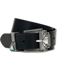 Etro Leather Belt - Black