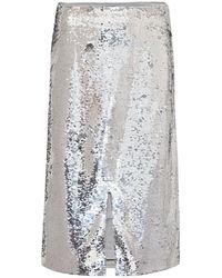 Ganni Gonna con paillettes - Metallizzato