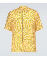 Fendi Camisa de manga corta FF Vertigo - Amarillo