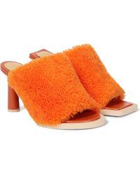 Jacquemus Pantoletten Les Mules Carrés Ronds - Orange