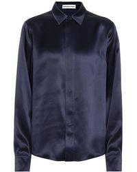 Balenciaga Camicia in seta - Blu