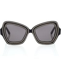 Céline - Embellished Square Sunglasses - Lyst