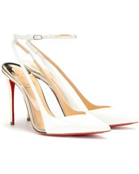 online retailer 54f49 f9030 Optichoc 100 Leather Slingback Court Shoes - White