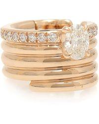Repossi Ear cuff Blast de oro rosa de 18 ct con diamantes - Multicolor