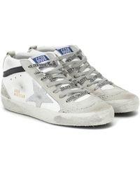 Golden Goose Deluxe Brand Sneakers Mid Star aus Leder - Weiß