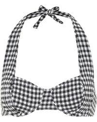 Solid & Striped Kariertes Bikini-Oberteil Lana - Mehrfarbig