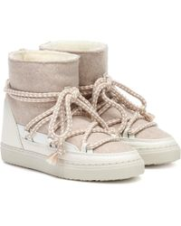 Inuikii Sneaker Wool And Leather Boots - White