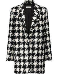 Philosophy Di Lorenzo Serafini Houndstooth Tweed Blazer - Black