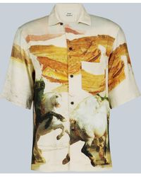 Acne Studios Simon Fluid Horse Vacation Shirt - Multicolour