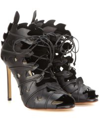 Francesco Russo | Cut-out Leather Sandals | Lyst