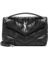Saint Laurent Loulou Puffer Small Shoulder Bag - Black