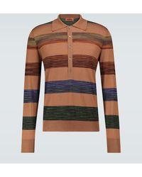Missoni Long-sleeved Polo Shirt - Brown