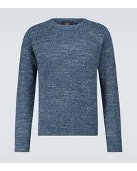 RRL Knitted Cotton Sweater - Blue
