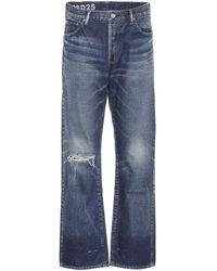 Visvim High-rise Distressed Jeans - Blue