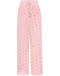 On sale PUMA - Embroidered Jersey Trousers - Lyst 768f42e9f