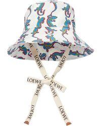 Loewe X Paula's Ibiza sombrero de pescador - Azul