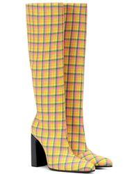 Balenciaga - Stivali a quadri in lana - Lyst